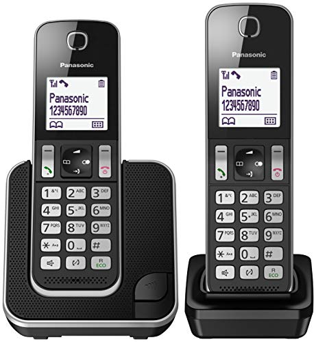 Panasonic KX-TGD312JTB Telefono Cordless Digitale DUO, LCD Monocromatico