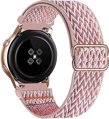 LLKHFA 20 mm 22 mm Banda de Nylon para Samsung Galaxy Watch 3 45mm 41mm Active 2 Gear S3 Pulsera Ajustable Huawei Watch GT 2 42mm 46mm Correa