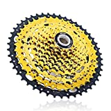 Ruote libere Bike Flywheel 10Speed ​​Cassette Ratio 11-46T MTB Mountain Mountain Bike Pignone Gold Steel Volano per Parti di Biciclette Shimano (Color : 10Speed 11 46T)