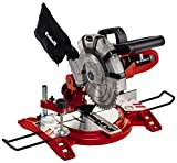 Einhell Scie à onglet radiale TC-MS 2112 (1600 W, Largeur de coupe maximale : 120 mm, Table pivotante, Tête de scie inclinable, Sac à poussière et blocage de sécurité)
