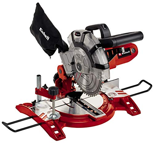Einhell Scie à onglet radiale TC-MS 2112 (1600 W, Largeur de coupe maximale : 120 mm, Table...