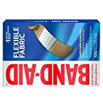 Johnson & Johnson Band-Aid Brand Flexible Fabric Adhesive Bandages for Wound Care and First Aid, All One Size, 100 Count… 20 100-count Band-Aid Brand Flexible Fabric Adhesive Bandages for first aid and wound protection of minor wounds, cuts, scrapes and burns Made with Memory-Weave fabric for comfort and flexibility, these bandages stretch, bend, and flex with your skin as you move, and include a Quilt-Aid comfort pad designed to cushion painful wounds which may help prevent reinjury These Band-Aid Brand Flexible Fabric adhesive bandages stay on for up to 24 hours and feature a unique Hurt-Free Pad that won't stick to the wound as they wick away blood and fluids, allowing for gentle removal