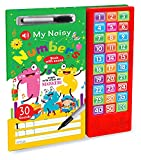 The sound module comes with a battery case so you can recharge the fun and never let it end. The board book has cards with gloss lamination for your little one to write the numbers on using the provided marker, all you have to do is wipe it with a cl...