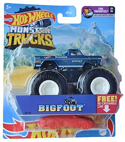 Hot Wheels Monster Trucks Bigfoot, Re-Crushable 41/75 1:64 Scale die cast