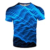Udol Patrón Personalizado Impresión 3DT Camisa 3D Casual Estilo de Verano Impresión de Moda Camiseta de Manga Corta Camisa para Hombre Paño de Calle Ropa de Hombre j0326 (Color : 15, Size : Medium)