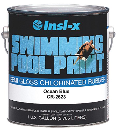 COMPLEMENTARY COATINGS CHL RB PP CR2623092-01 INSL-X Ocean Blue Chlorinated Rubber Swimming Pool Paint, 1-Gallon, 1 Gallon, 128 Fl...