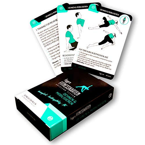 figgrs Trainigskarten Dehnen & Mobilisieren I 50 Fitness Übungen für mehr Beweglichkeit I Stretching ohne Gerät I Dehnübungen zuhause & überall durchführbar I Von Anfänger bis Profi