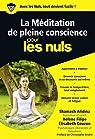 Méditation : la pleine conscience pour les Nuls par Alidina