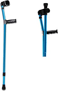 AILSAYA Forearm Crutch Elbow Crutches Foldable Ultralight Aluminum Assistance Double Adjustable with Comfy Handle Adjustable Folding Metal Walking Cane Elbow Walking Stick for The Young and Elder
