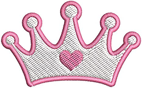 Amazon Com Iron On Sew On Patch Applique Simple Young Pink Girly Princess Heart Crown Outline Cartoon Icon Embroidered Design Small 3 Wide X 1 8 Tall Arts Crafts Sewing This resource source click here go to website. sew on patch applique simple