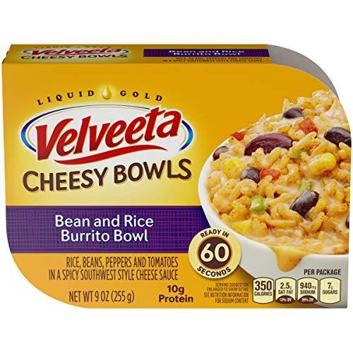 Velveeta Cheesy Bowls Bean & Rice Burrito Bowl, 9 oz Box (Pack of 6)