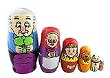 Winterworm - Juego de 6 muñecas rusas para niños...
