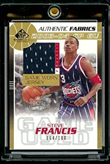2003-04 SP Game Used Steve Francis Jersey 64/100 Houston Rockets Basketball Card Mint Condition