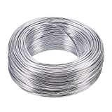NBEADS Filo di Alluminio, 55M 2.0mm Filo Metallico Color Argento Filo Floreale per Perline per Creazione di Gioielli Armature E Sculture