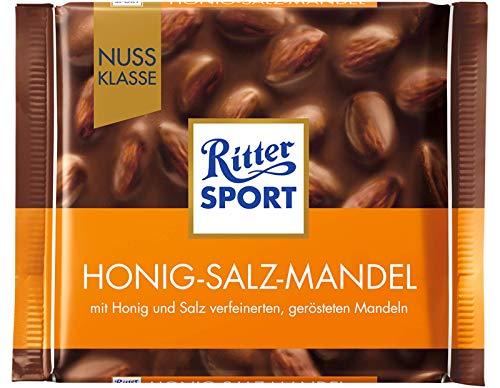 Ritter Sport Honey Salt Almonds Chocolate Bar Candy Original German Chocolate 100g/3.52oz
