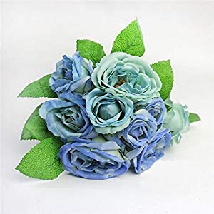 Artificial and Dried Flower Fake Silk Lotus Decorative Flower Wedding Bouquet Real Touch Silk Flowers for Home Decoration