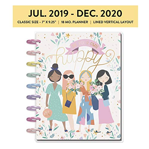 me & my BIG ideas The Happy Planner - Squad Life Theme - July 2019 to December 2020 - Vertical Layout - Weekly & Monthly Disc-Bound Pages - Scrapbook - Classic Size
