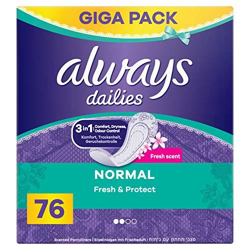 Always Fresh & Protect Normal Fresh Slipeinlagen, 76 Stück