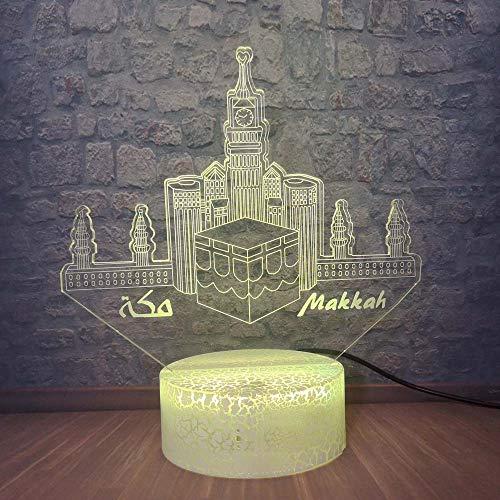 Solo 1 pieza 3D LED Visual Table Light Home Room Festival musulmán tive MoodFriend Gift