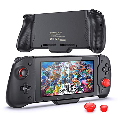 Controller Compatible with Nintendo Switch Handheld Mode, with Buit-in Upgraded PD Chip, OIVO Comfortable & Ergonomic Controller with 6 Gyro Axis, Double Motor Vibration