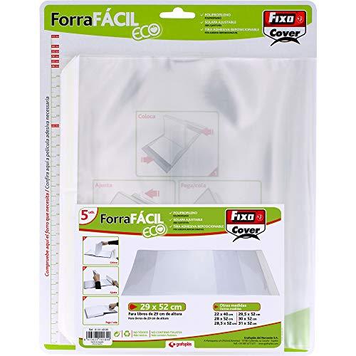 Grafoplás Fixo Cover 01014300-Pack de Forra Fácil Eco con solapa ajustable de 290 x 520 mm, 0