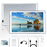 Tablet 10 Pulgadas YOUXD, 4GB de RAM 64 GB de Memoria 3G Tableta Android 10 Certificado por Google GMS SIM TF, GPS WiFi Soporte (White)