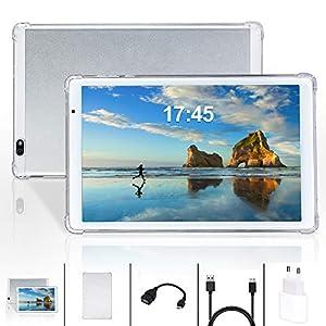 Tablet 10.1 Pollici Android 10.0,Quad-Core,4GB + 64GB,1280 * 800 FullHD IPS, 5MP+8MP Doppia Fotocamera,GPS, WiFi, Bluetooth (Plata)