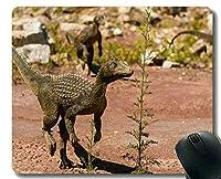 カスタマイズされるマウスパッド、ステッチされた端が付いているドラゴンの恐竜のマウスパッド