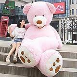 CLINGE Stuffed Animal Teddy Bear Huge American Giant Bear Skin Teddy Bear Coat Factary Price Soft Toys for Girls-Pink-200Cm
