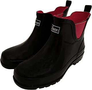 Jileon Ankle Height Rubber Rain Boots for Women - Wide in...