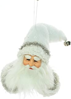 JJ's 10'' White Santa Head Ornament