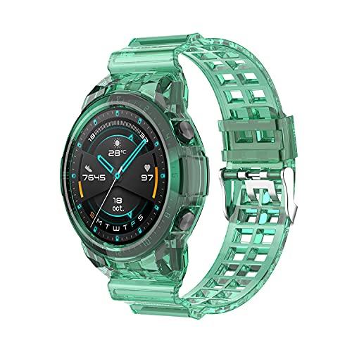 leiai Silicona Correa para Huawei Watch GT2 46mm Watch,Correas Reloj,Bandas Correa Repuesto,Reloj Recambio Brazalete Watch Correa Repuesto para Huawei Watch GT2 46mm Watch Accessories (verde)