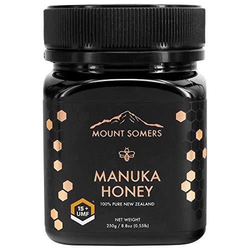Mount Somers Manuka Honey, UMF 15+ | Pure Non GMO New Zealand Manuka Honey | Genuine 100% Natural Superfood | UMF Certified & Traceable | 8.8oz