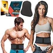 Lower Back Brace with Extra Detachable Pad - Lumbar Back Support Brace for Men and Women - Helps Relieve Lower Back Pain with Sciatica, Herniated and Slipped Discs,Degenerative Disc Disease (Size L)