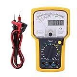 Yhtech Multímetro digital electrónico, KT7030 Multifunción de Alta Sensibilidad de alta precisión digital analógico doble Multímetros de visualización