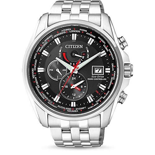 Citizen Herren-Armbanduhr AT9030-55E, silber/schwarz