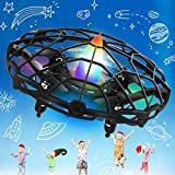 UFO Drones for Kids Hand Controlled Drone Toy for Kids Toddlers Adults, Indoor/Outside Mini UFO Drones with Colorful Lights, Upgraded Sensors & Long Battery Life, Gift for Birthday Christmas