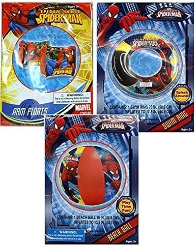 venta Ultimate Spider-Man Spider Sense Inflatable Inflatable Inflatable Pool Toys Collection  Swim Ring Tube + Arm Floats + Beach Ball by MBZ  estar en gran demanda