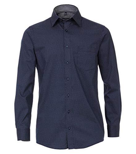 Casa Moda - Comfort Fit - Bügelleichtes Herren Hemd mit Muster (493312900A), Größe:6XL, Farbe:Blau (100)
