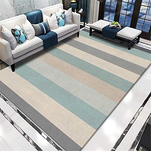 Carpet fur rugs for bedroom Breathable Comfort Yellow Gray Striped Design Cost Carpet living room accessories for home washable kitchen rugs 50*120CM