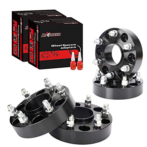 2pc 1.25 Thick Wheel Adapters Spacers 5x5 to 5x4.5 Changes Bolt Pattern RockTrix for Precision European 5x127 to 5x114.3 with Metric 12x1.5 Studs//Nuts 32mm