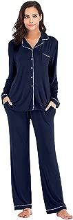 Pajama Set for Women Super Soft Long Sleeve Sleepwear Women's Button Down Nightwear Loungewear PJ Set