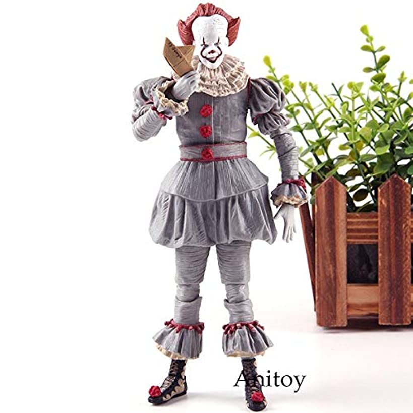 PAPBI Pennywise Figure 6.5 inch Hot Toys IT 2017 Ultimate Scale Action Figures Horror Mini Model Doll Exclusive Toy Halloween Christmas Collectible Collectable Gifts Collectibles Gift for Kids Baby