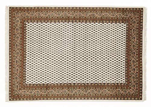 BADOHI MIR echter klassischer Orientteppich handgeknüpft in creme-braun, Größe: 170x240 cm