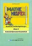 Mathe Helfer 'Bruchterme und Bruchgleichungen': Klasse 8, mit Lösungsheft