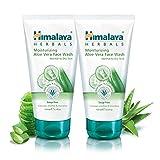 Himalaya Aloe Vera Face Wash, sin jabón, con pepino, lavado de cuidado facial hidratante suave, 150 ml (paquete de 2)