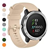 Onedream Correas Compatible para Garmin Vivoactive 4, Compatible con Samsung Galaxy Watch 3 45mm, Pulsera de Repuesto Band Deportivo Correa del Reloj Silicona Accesorios 22mm, Beige (Sin Reloj)
