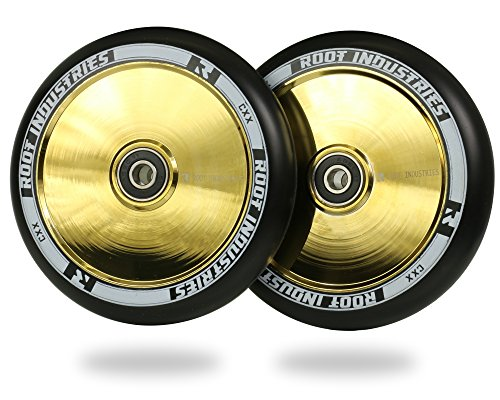 ROOT INDUSTRIES AIR Wheels 120mm - Negro/Oro