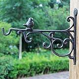 CCLLtuy Gancho Europeo Retro Pastoral Creativa Artesanía de Hierro Fundido Antiguo Gancho Jardín Colgante de Pared Decoración de la Pared Escudo Gancho pequeño pájaro