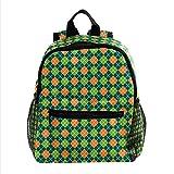 henghenghaha Sacs à dos d'école pour filles et garçons Sacs à livres pour enfants, plaid vert Saint-Patrick